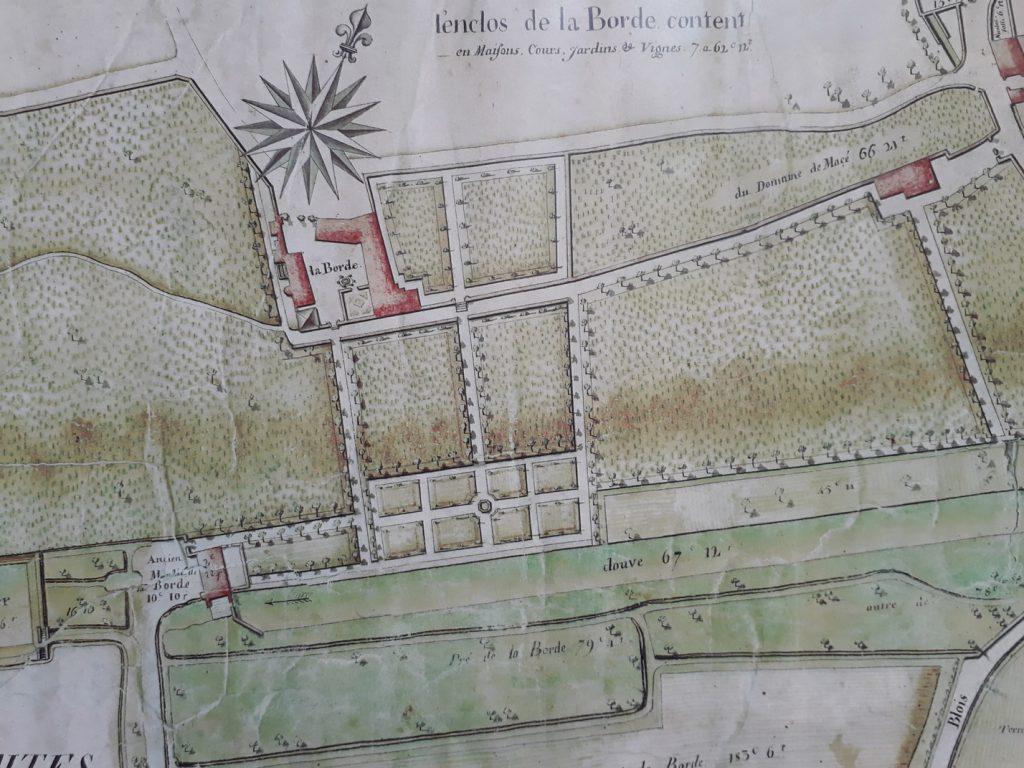 Plan de la Seigneurie de La Borde au XVIIIème siècle